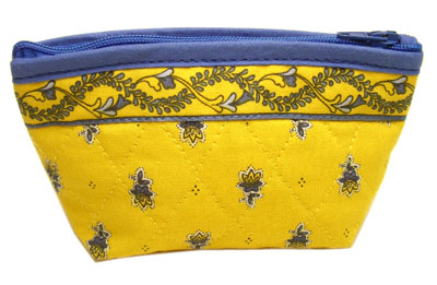 Provencal fabric coin purse (Marat d'Avignon / Avignon. yellow)